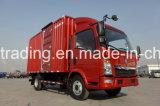 Sinotruk HOWO 4*2 상자 트럭 또는 경트럭