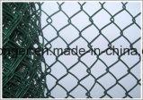 PVC에 의하여 입히는 직류 전기를 통한 체인 연결 철망사 담 또는 다이아몬드 철망사