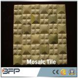 Подгонянные новые плитки мозаики мрамора желтого цвета типа для стены