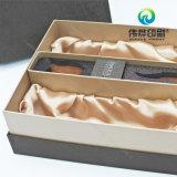 Presente delicado do vinho/caixa de papel da bebida da impressão com carimbo quente