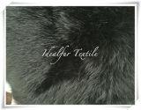 Pelliccia artificiale di Fox di colore nero/pelliccia d'imitazione