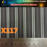 Tela pronto de la raya de la tela cruzada del poliester de las mercancías para la guarnición del juego de los hombres (X115-117)