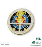 Distintivo molle di Pin dello smalto del metallo di figura rotonda con resina (xd-09045)