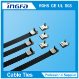 Industrial 4.6X450mm를 위한 Non-Magnetic Roller Ball Lock Steel Cable Ties