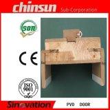 Puerta de madera revestida de PVC con vidrio (SV-P024)