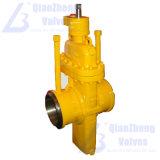Válvula de porta do Flat-Plate da laje do gás do API através da válvula de porta do disco da paralela da canalização