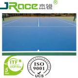 Напольный теннисный корт резвится поверхность настила