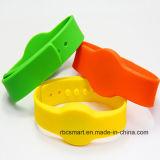 Wristband astuto registrabile di evento/festival del braccialetto del foro di RFID 13.56MHz Ntag213