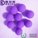 Фабрика стального шарика Китая сразу поставила шарик углерода 24mm покрынный резиной стальной