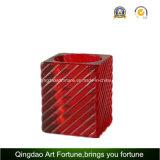 立方体のホーム装飾Afch-F6074のためのガラスTealightの蝋燭ホールダー