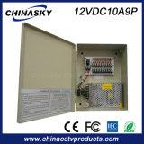 وافق 12V 10A م / IEC الدوائر التلفزيونية المغلقة التيار الكهربائي (12VDC10A9P)