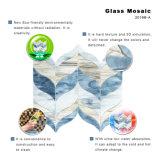 Tuiles de mosaïque en verre claires de Backsplash de cuisine bleue de mer à vendre