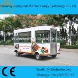 BBQ Geroosterde Mobiele Kokende Aanhangwagen van het Voedsel voor Verkoop met Elektrische Handtekening