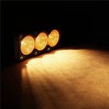 10W amber LEIDENE van de Vloed 6inch Lichte Staaf