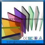 6-80mm pour le verre feuilleté coloré par construction, verre feuilleté de 6-80mm