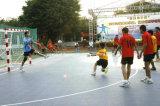 Carrelage de verrouillage de cour de handball de championnat européen, étage de handball