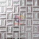 Серебр 15*48mm Titanium Crystal Art Glass Mosaic Tile (TC346)