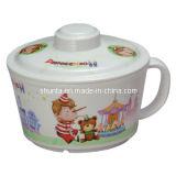 100% vajilla de la melamina - tazón de fuente de los tallarines del vajilla del cabrito con la cubierta/el tazón de fuente de los tallarines (pH635S)