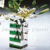 Florero del vidrio cristalino (HP0027)