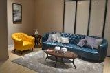 Sofá luxuoso do couro da casa de campo do projeto italiano