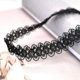 女性のための粋な方法宝石類の黒のレースのチョークバルブのネックレス