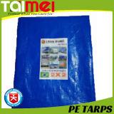 encerado azul del PE 220GSM con alta calidad