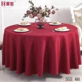 Pano de tabela vermelho do jacquard da alta qualidade