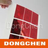 Collant de laser de garantie de l'hologramme 3D de couleur rouge 2d