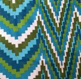 Tela de tapicería impresa manera geométrica contemporánea del Chenille de Ikat