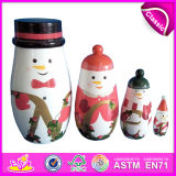 2016 colorido juguete de madera de Rusia, Matryoshka muñecas de madera de juguete, intelectual de juguete de madera de bebé W06D038