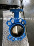 Tipo Ductile válvula da bolacha do ferro CF8 de borboleta com alavanca