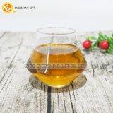 Vidrios de vino cristalinos de primera del whisky con insignia modificada para requisitos particulares