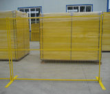 カナダのための75X100mm Mesh HoleおよびYellow ColorのPVC Coated Temporary Fence
