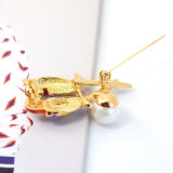 Multicolored Broche van de Dwergpapegaaien van de Parel van de Papegaai van het Email Dierlijke Zwarte Acryl