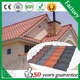 Building&#160 ; Feuille enduite de toiture en métal de pierre matérielle