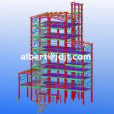 Armazém/oficina/hangar fáceis da construção de aço do Multi-Assoalho da configuração do baixo custo