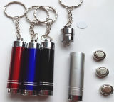AluminiumAlloy LED Keychain Flashlight für Promotion (4077)