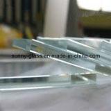 안전 건축 강화 유리 매우 명확한 유리
