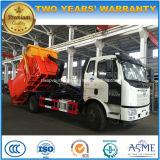 FAW 4X2 15 de gancho toneladas de rolo do braço fora do caminhão com equipamento da compressa do lixo