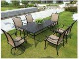 Sillas y tabla de aluminio, sistemas 7PCS, sistemas de aluminio del patio del marco del patio del patio