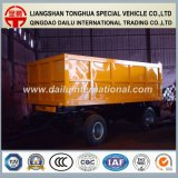 2 Volledige Aanhangwagen van de Aanhangwagen van de Zijwand van de Trekbalk van assen de Gele Semi
