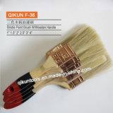 O punho F-01 de madeira eriça a escova de pintura