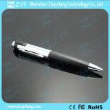 De Aandrijving van de Flits van de Vorm USB van de Pen van het Metaal van de Dekking van het leer (ZYF1190)