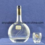 Bottiglie di vino di vetro del liquore della vodka ovale operata di Xo con sughero