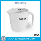 White en gros Ceramic 250ml Measuring Cup avec Handle/Spout