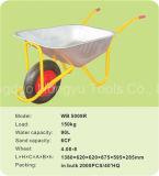 固体車輪(WB - 5009R)が付いている亜鉛によってめっきされる皿の一輪車
