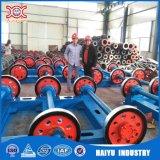 Máquina hecha girar concreta de poste de la transmisión de potencia