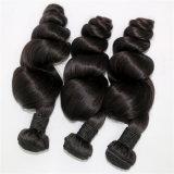 最もよい品質の人間の毛髪の緩い波のインドのバージンの毛の織り方