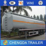 Reboque 60cbm do petroleiro do combustível de 3 compartimentos dos eixos 4