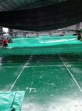 Зеленая крышка тележки брезента PE, законченный лист брезента